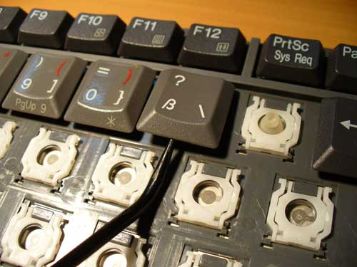 Ремонт кнопок клавиатуры своими руками 91